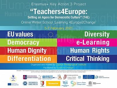 """Online Winter School """"Learning4Europe 2Change"""""""